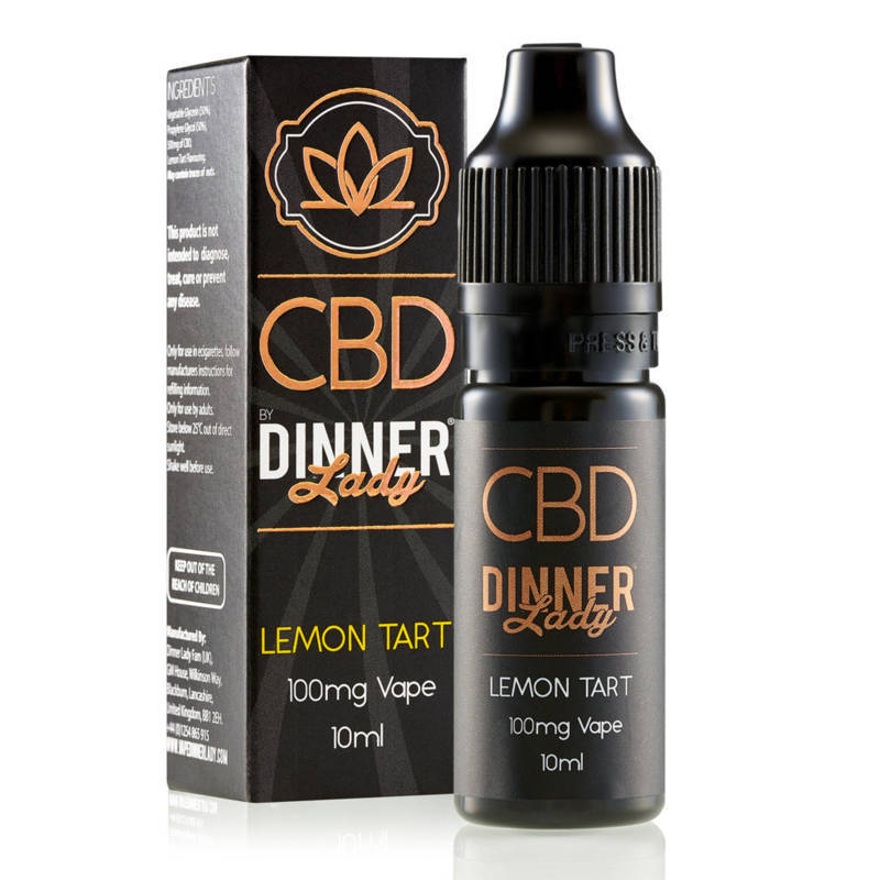 Dinner Lady Lemon Tart CBD E Liquid 10ml 100mg